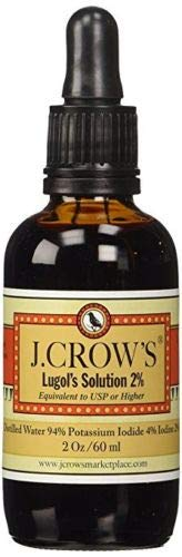 J.CROW'S® Lugol's Solution of Iodine 2% 2 oz Professional Pack (24 Bottles)