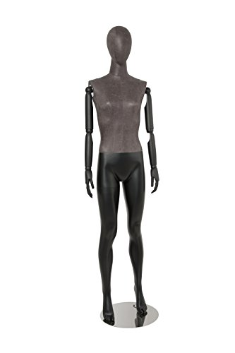 Newtech Display MAF-ARM2-1/BLLE Female Mixed Material Mannequin with Black Leatherette Head and Torso by Newtech Display (Image #6)
