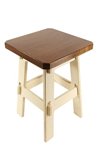 Kiboko Five Gallon Bucket Stool, Cherry Stained Premium Maple Thick Top, Table Height, 18 (Baltic Wood Floors)