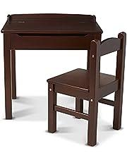 Melissa & Doug Child's Lift-Top Desk & Chair (Kids Furniture, Espresso, 2 Pieces, 40.89 cm H x 59.94 cm W x 58.93 cm L)