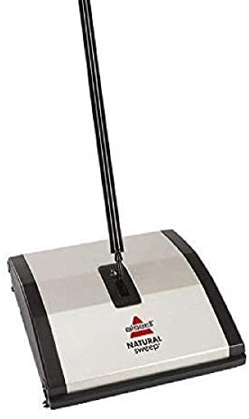 Bissell Natural Sweep Carpet and Floor Sweeper with Dual Rotating System and a couple of Corner Edge Brushes, 92N0A, Silver