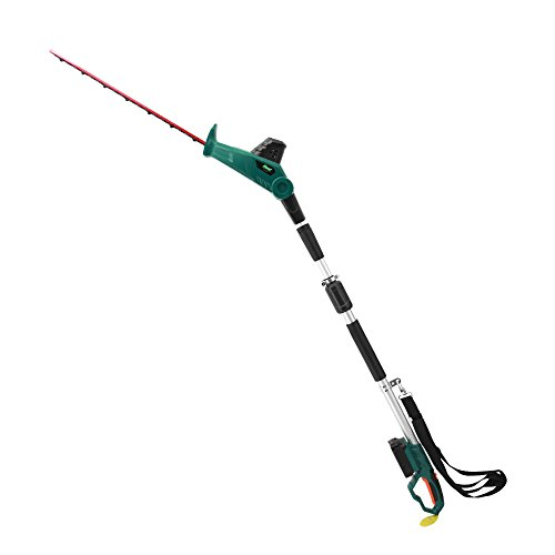 EAST 20V Li-ion Cordless 2 in 1 Long Reach Telescopic Battery Electric Pole Hedge Trimmer, 20