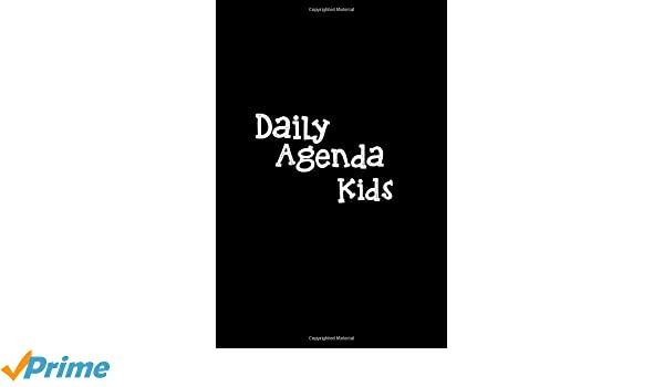 Amazon.com: Daily Agenda Kids: Lined Notebook Journal To ...