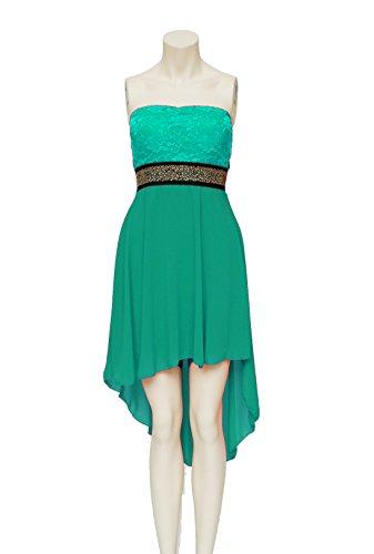Young-Fashion - Vestido - Noche - Básico - Sin mangas - para mujer Verde