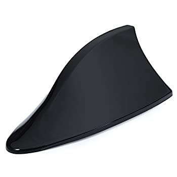 AUTOLOVER Universal Antenna Car With Blank Radio Shark Fin Antenna Shark Fin Shaped Radio Signal Decorative(BLACK)