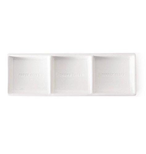 (The Pink Orange TPO-0004E Ceramic Accessory Dish Organizer, White)