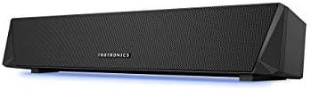 TaoTronics PC スピーカー Bluetooth 5.0 サウンドバー ゲーム向き LEDライト付 高音質 デュアルパッシブラジエーター 小型 壁掛け可 ストップウォッチ機能付 黒 14W TT-SK027JP01...