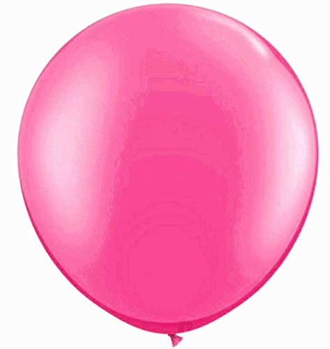 Elecrainbow 36 Inch Balloons Pink Giant Balloons, Oval Latex Shape, Pink Color, 6 Pack