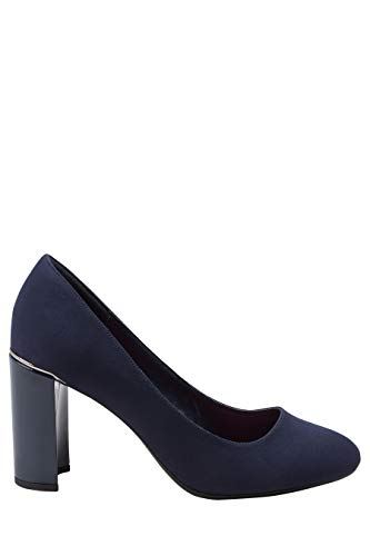 Marineblau Blockabsatz Mit next Weit Damen Pumps qt6ZwIa