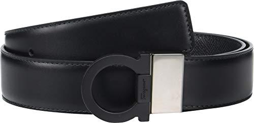 (Salvatore Ferragamo Men's Adjustable/Reversible Belt - 67A004 Black 34)