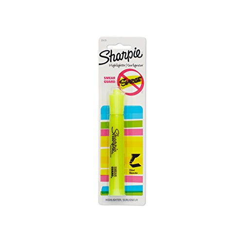 Sharpie 25125PP Accent Tank-Style Highlighter, Fluorescent Yellow