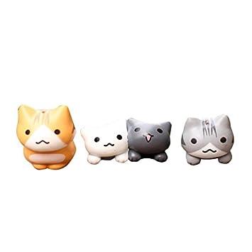 DioKlen Juego de 6 Piezas de Dibujos Animados de Gatos de la ...