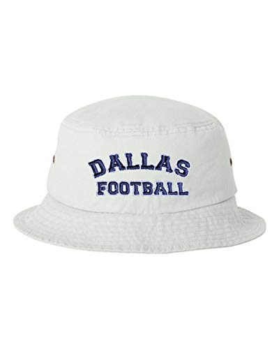 Go All Out One Size White Adult Dallas Football Embroidered Bucket Cap Dad Hat -
