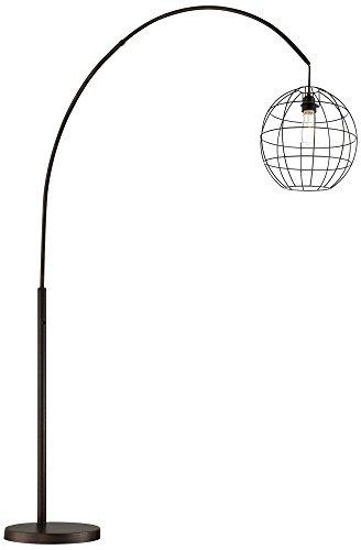 Lite Source Kaden Copper Bronze Cage Arc Floor (Lite Source Copper Floor Lamp)