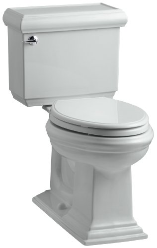 Ice Grey Rough Elongated - KOHLER K-3818-95 Memoirs Comfort Height Two-Piece Elongated 1.6 gpf Toilet with Classic Design, Ice Grey