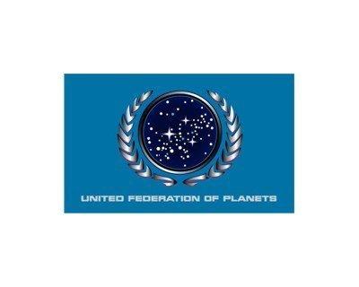 Star Trek - Fahne - United Federations of Planets - 90x150 cm