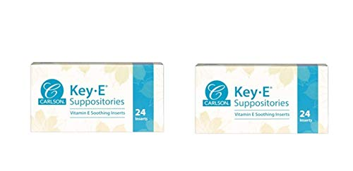 Jual Carlson Labs Key E Suppositories Vitamin E Soothing Inserts 2