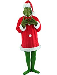 The Grinch Santa Costume Deluxe with Mask Mens S/M