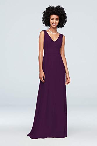 Chiffon V-Neck Tank Bridesmaid Dress Style F19938, Plum, 22