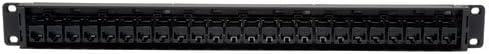 RJ45 Ethernet N054-024 Tripp Lite 24-Port 1U Rackmount Cat5e Feedthrough Patch Panel
