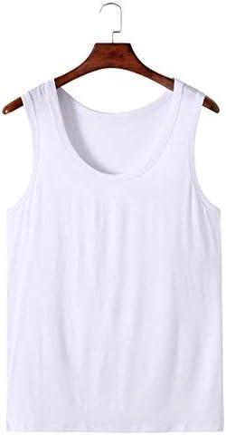 PLMM 4XL 5XL 6XL Tallas Grandes Camisetas sin Mangas con Cuello en O para Hombre Camisetas sin Mangas de algod/ón Camiseta sin Mangas para Hombre sin Mangas Camiseta Chaleco Interiores