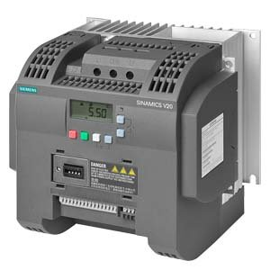 Siemens 6SL3210-5BB23-0UV0 SINAMICS V20 1AC200-240V -10/+10% 47-63HZ RATED POWER 3,0 KW WITH 150% OVERLOAD FOR 60SEC UNFILTERED I/O-INTERFACE: 4DI, 2DO,2AI,1AO FIELDBUS: USS/ MODBUS RTU