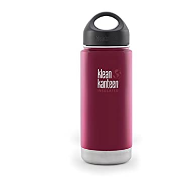 Klean Kanteen Wide Insulated Bottle with Stainless Loop Cup, Roasted Pepper, 16-Ounce