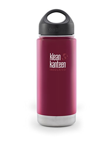 Klean Kanteen Wide Insulated Bottle with Stainless Loop Cup, Roasted Pepper, 16-Ounce by Klean Kanteen