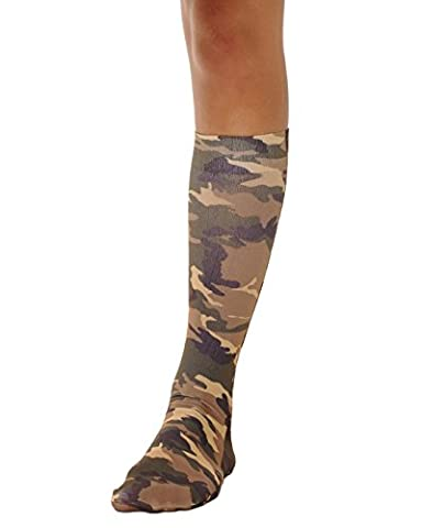Camo Socks Knee High Trouser Womens Sock Military Army Costume Accessory Soxs Sizes: One Size