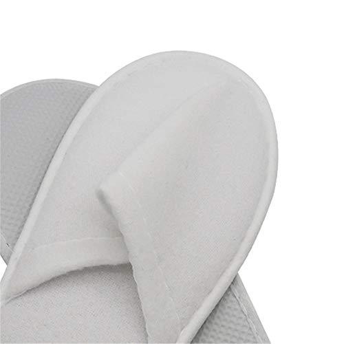 Blanc Accueil couleur Chaussures Des Plupart Gububi Autocollants dérapants Bleu Hôtel Pour Convient Invité Spa Hommes Pantoufles Femmes La Doux Jetable Toe Et Serviette Anti Coton SwFCSqA