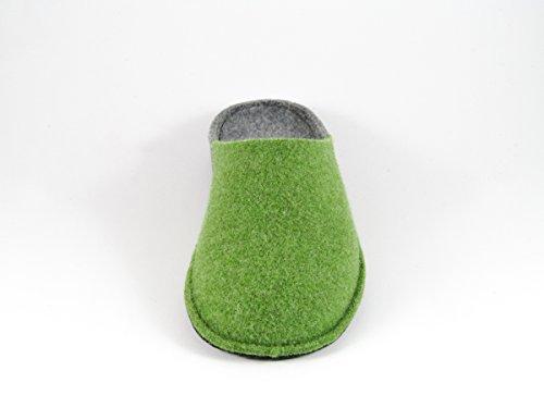 Pantofole da Donna Invernali Bicolore Verde