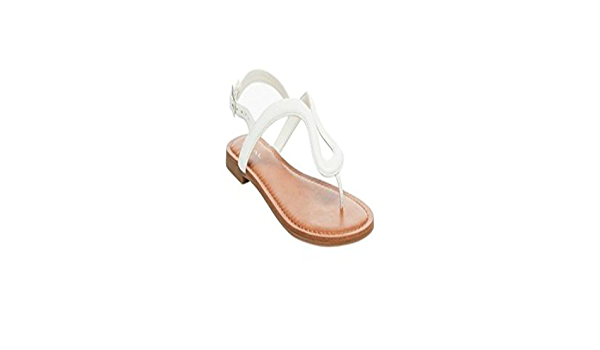 Merona Women/'s Pewter Jana braided thong sandal Size 6 ankle buckle flat