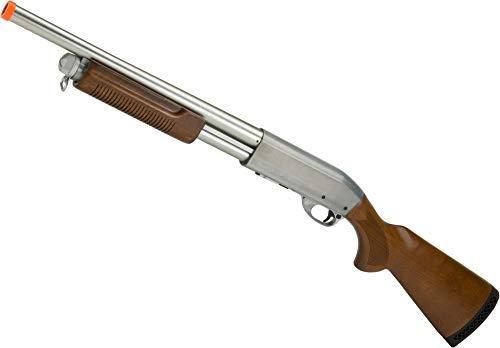 Evike S&T M870 Type Full Metal Airsoft Training Shotgun (Version: Enforcer Version/Silver)