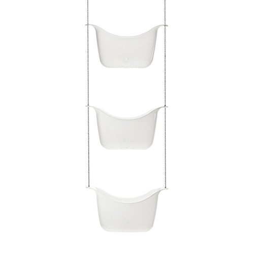 Umbra, White Bask Hanging Shower Caddy, Bathroom Storage and Organizer for Shampoo, Conditioner, Bath Supplies and Accessories (Best Shower Caddy For Clawfoot Tub)