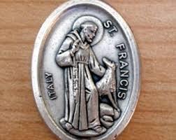 Oxidized Saint Medals (5pc Lot, Catholic Patron Saints Loose Medals (Charms), 1