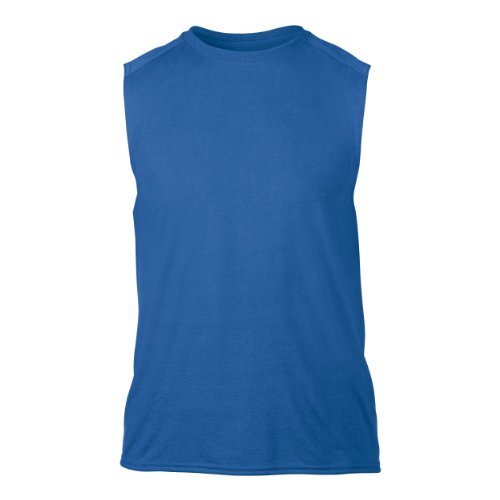 "Gildan Mens Performance Sleeveless T-Shirt / Vest (M (Chest 38-40"")) (Royal)"