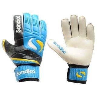 Sondico Elite Finger Pro Tect Goalkeeper Gloves Blue Black 8  Amazon.co.uk   Sports   Outdoors 29bb6a7c0