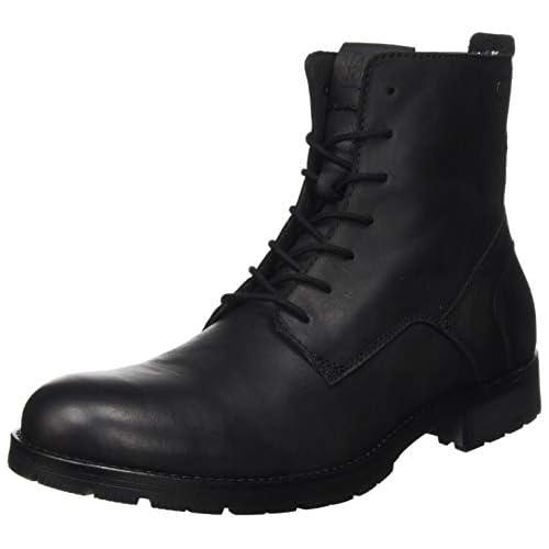 chollos oferta descuentos barato JACK JONES JFWORCA Leather Anthracite 19 STS Chukka Boots para Hombre Black 47 EU