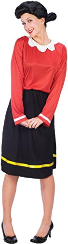 Fun World Adult Olive OYL Costume Small/Medium, Multicolored ()