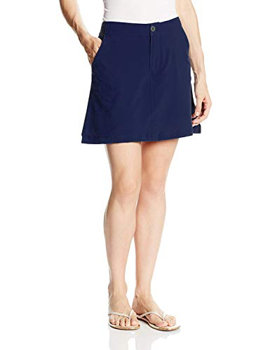 Gooket Women's Lightweight Active Athletic Quick Dry Skort Back Elastic Waist Skirt with Underneath Shorts Dark Blue Size -