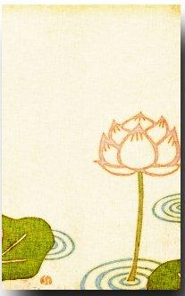 Amazon 和風ポストカード 染絵風 睡蓮 夏のイラスト 和道楽