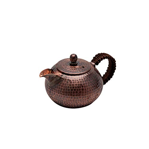 LITING Copper Kettle Handmade Copper Kettle Thicken Household Outdoor Kettle Kettle Antique Teapot Kung Fu Tea Set Teapot 0.4L (color : Brown)