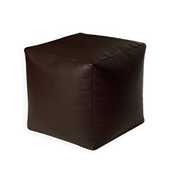 Sattva Square Footstool Cover Brown (Without Beans)
