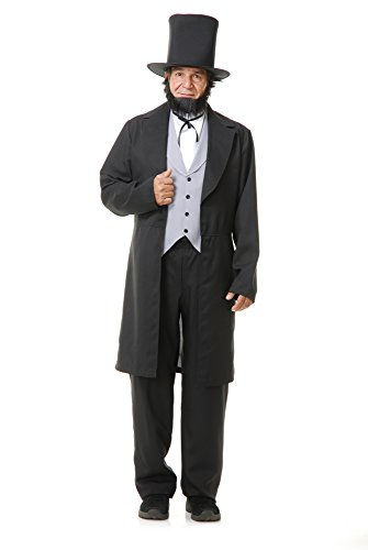 Charades Men's Abe Lincoln, as Shown, X-Large