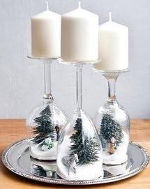 Velas de Navidad artesanal - impresionante mesa de centro de mesa ...