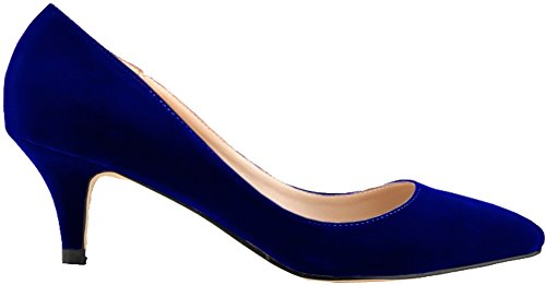 OL Pump Party Blue Womens Down Toe Night Wedding Bride Salabobo Smart Bridesmaid Heel Low Pointed AwO6aq