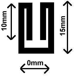 32m Satinschr/ägband 15mm breit 3-fach gefalzt Farbe Weiss