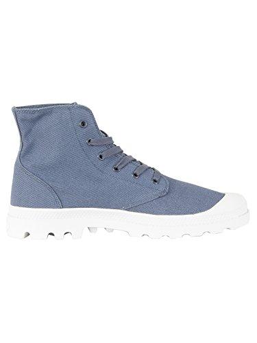 adultos hi Pampa Zapatillas gris top Palladium unisex para azul Blanc Mixte S04qw0R