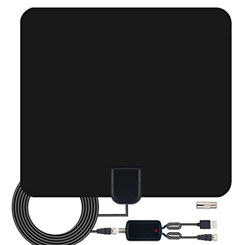 TV Antenna Amplified Digital HDTV Antenna 120+ Mile Range 4K 1080P Indoor Powerful HDTV Amplifier Signal Booster VHF UHF Freeview Television Local Channels w/Detachable Sign 2019 Newest
