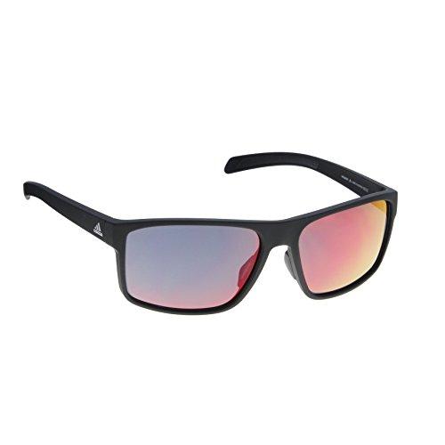 Adidas A423 6052 Black Matte Whipstart Rectangle Sunglasses Running, Lens Categ (Sunglasses Men Adidas)
